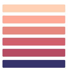 six color coral set vector image