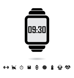 Smart watch with fitness vector image