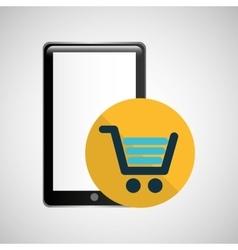 Smartphone black shop online graphic vector