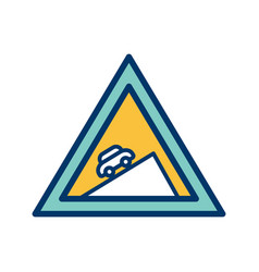 Steep ascent icon vector