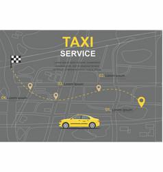Taxi service concept transporation vector