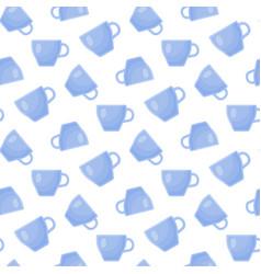 tea cup flat seamless pattern vector image