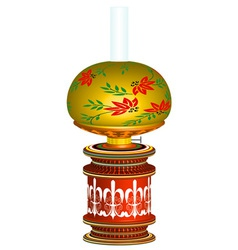The old kerosene lamp vector