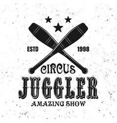 Two crossed juggler skittles black emblem vector