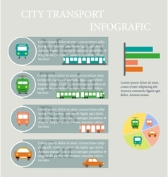 Use of public transport Infographics vector image