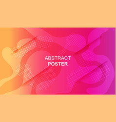 vivid colorful poster template with fluid shapes vector image