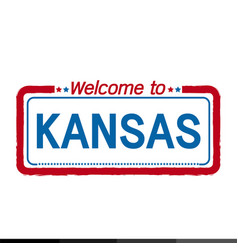 Welcome to kansas of us state design vector