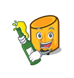 With beer rigatoni mascot cartoon style vector