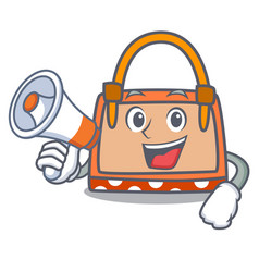 with megaphone hand bag character cartoon vector image