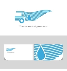 Delivery water vector