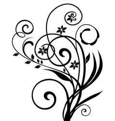 Floral ornament vintage vector image vector image