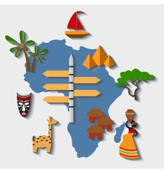 africa travel vector image vector image