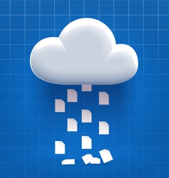 Downloading from cloud storage vector image vector image