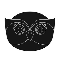 owl muzzle icon in black style isolated on white vector image vector image
