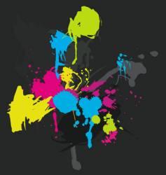 paint splatters vector image vector image