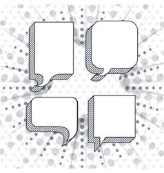 think text balloon design vector image