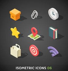 Flat Isometric Icons Set 6 vector image vector image