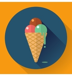 Ice Cream icon Flat designed style vector image