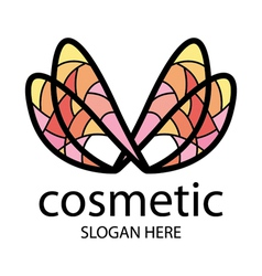 logo in the form of multi colored wings vector image vector image