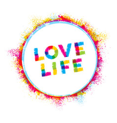love life creative rough inspiration vector image