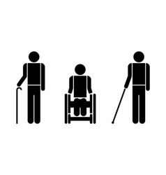 people with disabilities symbols vector image vector image