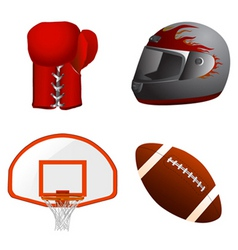 sport equipment vector image vector image