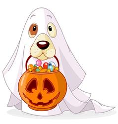 Halloween dog vector