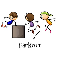 Stickmen playing parkour vector image vector image