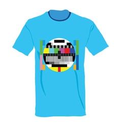 tv test on shirt vector image