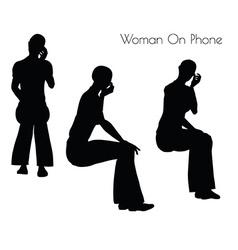 Woman on phone vector