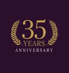 35 anniversary royal logo vector