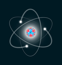 3d like abstract atom structure model vector