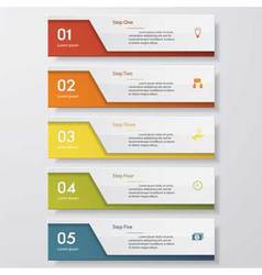 5 steps order template for your design vector image