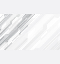Abstract white grey geometric cyber design vector