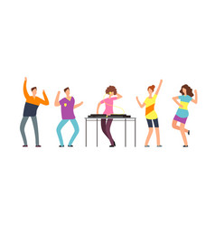 adult persons dance happy dancing people vector image