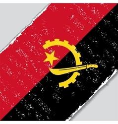 Angolan grunge flag vector image
