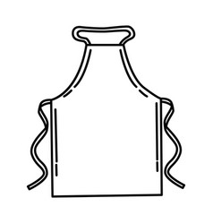 Apron icon doodle hand drawn or outline icon style vector