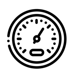 athlete speed indicator icon outline vector image
