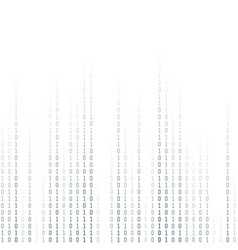 binary coding computer digital data encryption vector image
