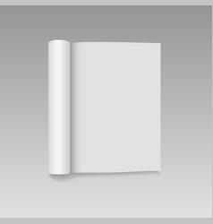 Blank open magazine mock up vector