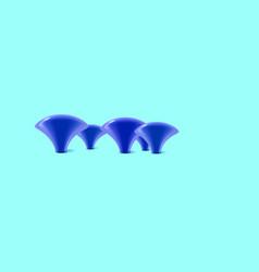 blue mushrooms background beautiful 3d fantasy vector image
