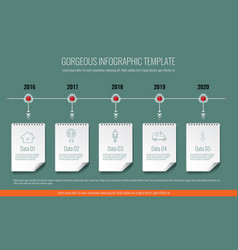 business concept timeline infographic template vector image