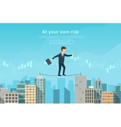 Businessman or man in crisis situation vector