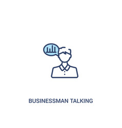 Businessman talking about data analysis concept 2 vector