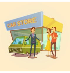 Car Dealer And Clients Concept vector
