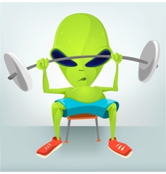 Cartoon Character gym vector image