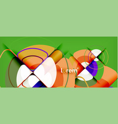 circles and triangles design abstract background vector image
