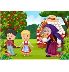 Classic children story Hansel and Gretel vector image