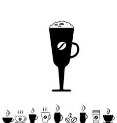 Coffee cup black icon vector