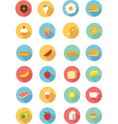 colorful food and beverages icon in flat style vector image